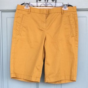 J. Crew Mustard Color Stretch Shorts